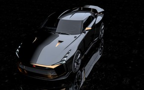 Picture shadow, Nissan, 2018, ItalDesign, GT-R50 Concept