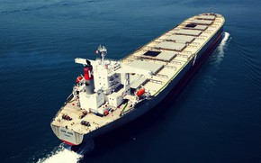 Picture Sea, The ship, The view from the top, Carrier, Vessel, A bulk carrier, A cargo ...