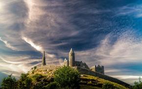 Picture the sky, landscape, Ireland, Rock of Cashel
