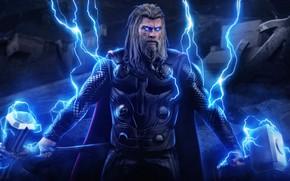 Picture zipper, hammer, beard, thor, Thor, Chris Hemsworth, Chris Hemsworth