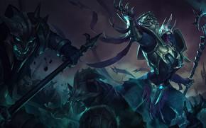 Picture armor, warriors, knights, League of Legends, League Of Legends, Azir