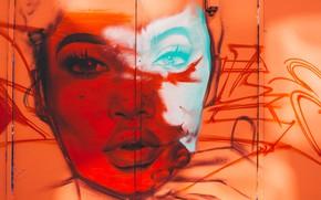 Picture London, United Kingdom, Shoreditch, Red Face Graffiti