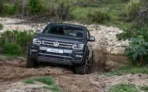 Picture earth, Volkswagen, front, pickup, Amarok, 2020