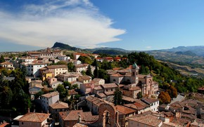 Picture the sky, clouds, the city, home, Italy, Emilia-Romagna