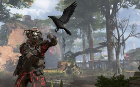 Picture being, mask, glasses, Raven, Apex Legends