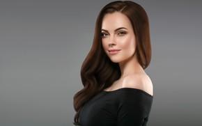 Picture look, face, pose, makeup, hairstyle, woman, hair, brunette, portrait, photographer Irina Ryabusjkina