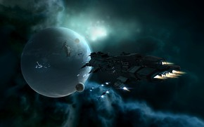 Picture space, nebula, planet, station, space, spaceship, station, eve online, space ship, coooper