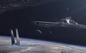 Picture star wars, star wars, spaceship, starship, battlecruiser, JULIAN CALLE, Bellator-class dreadnought
