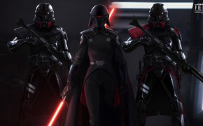 Picture Star Wars, fantasy, game, weapon, digital art, lightsaber, artwork, fantasy art, Sith, pearls, rifles, cape, …