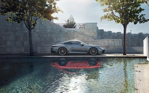 Picture machine, water, style, reflection, sports, generation, Porsche 911 Carrera S, 992, 2019