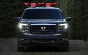 Picture Honda, front view, pickup, 2020, Ridgeline, 2021