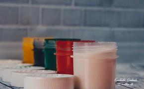 Picture style, paint, paint, gouache, set painter, краска в банках