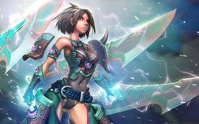 Picture look, girl, art, League of Legends