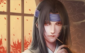 Picture look, fantasy, portrait, guy, Asian