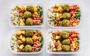 Picture meat, pepper, figure, vegetables, meatballs