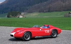 Picture Maserati, Retro, W.R.E.-Maserati, Red Maserati