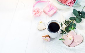 Picture romance, coffee, Breakfast, cookies, Myfoodie