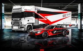 Picture Auto, Machine, Truck, Mercedes, Mercedes Benz, AMG, GT3, Supercar, Rendering, Concept Art, Sports car, Technicals, …
