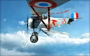 Picture France, fighter, Biplane, pilot, WWI, Nieuport, Nieuport 17