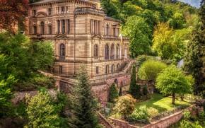Picture greens, the sun, trees, house, Germany, garden, terrace, Villa Lobstein