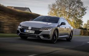 Picture road, grey, coupe, Volkswagen, liftback, 2020, Arteon, 4Motion, R-Line Edition