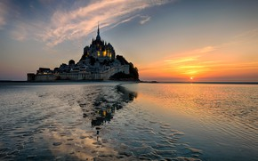 Picture France, The evening, Castle