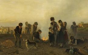 Picture German painter, German painter, 1879, oil on canvas, The Dusseldorf school of art, Düsseldorf school …