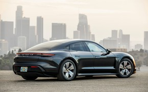 Picture black, coupe, Porsche, 2020, Taycan, Taycan 4S