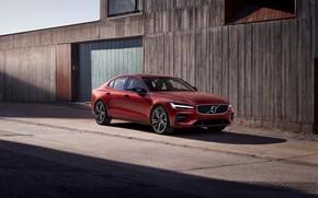 Picture Volvo, Volvo, 2018, sports sedan, Volvo S60, Red metallic