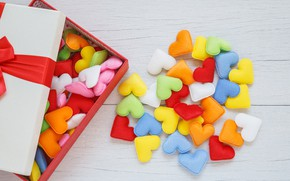 Picture love, gift, colorful, hearts, love, box, romantic, hearts, gift