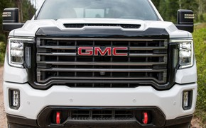 Picture white, face, before, pickup, GMC, Sierra, AT4, 2020, Sierra HD