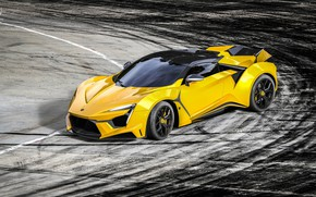 Picture Auto, Yellow, Rendering, Supercar, Concept Art, Sports car, SuperSport, Transport & Vehicles, Benoit Fraylon, by …