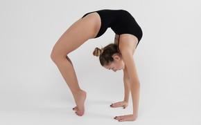 Picture girl, pose, gymnastics, training
