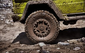 Picture yellow, Mercedes-Benz, wheel, dirt, SUV, 4x4, G500, G-Class, 2015, G 500, 4x4², V8 biturbo