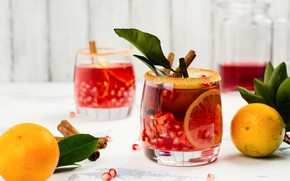 Picture orange, drink, cinnamon, spices, sangria