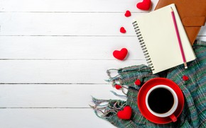 Picture love, gift, heart, hearts, red, love, heart, wood, cup, romantic, valentine's day, coffee, a Cup …