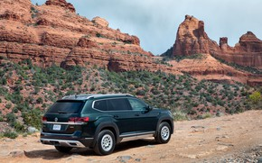 Picture rocks, Volkswagen, SUV, Atlas, 2020, Basecamp
