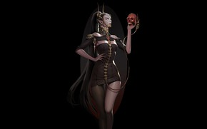 Picture Girl, Fantasy, Beautiful, Sexy, Art, Style, Sake, Minimalism, Characters, Figure, Eunsil Song