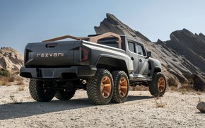Picture pickup, in the mountains, Rezvani, 2020, Hercules 6x6
