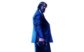 Picture Minimalism, Figure, Gun, Art, Keanu Reeves, Keanu Reeves, Character, Pencil, Characters, John Wick, John Wick, …