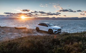 Picture sunset, coast, Mercedes-Benz, the evening, crossover, GLA, 4MATIC, GLA-Class, 2020, AMG Line, GLA 250