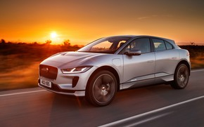 Picture sunset, Jaguar, 2018, crossover, I-Pace, EV400, AWD S