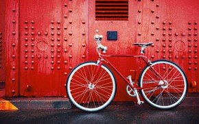 Picture Red, Wallpaper, Bicycle, Mood