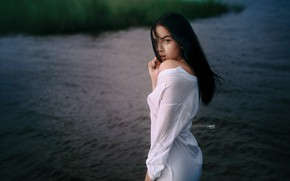 Picture water, Girl, shirt, Alexander Drobkov-Light, Drobkov