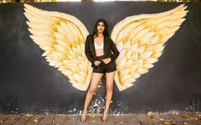 Picture girl, hot, sexy, legs, beautiful, figure, model, brunette, pose, indian, actress, celebrity, heels, bollywood, Natasha …