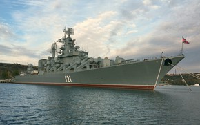 Picture Moscow, cruiser, rocket, guards, проек 1164