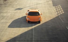 Picture Lamborghini, Orange, Parking, VAG, Huracan