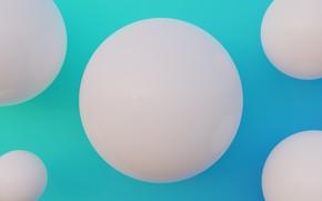 Picture ball, gradient, render, minimalism