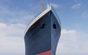 Picture Case, Titanic, Nose, Titanic, Rendering, Tank, RMS Titanic, Cruise liner, White Star Line, White Star ...