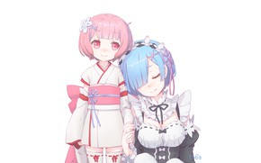 Picture From scratch, REM, RAM, Re Zero Kara Hajime Chip Isek Or Seikatsu
